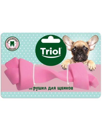 Игрушка PUPPY для щенков Кость узловая, розовая