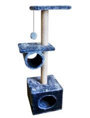 Комплекс Куб 2 полки с трубой мех однотонный, джут