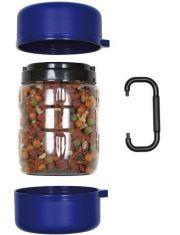 Дорожный набор: контейнер для корма 1,75 л, 2 миски по 0,65 л