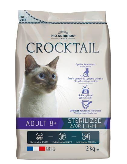 Crocktail Sterilise Light корм для стерилизованных/склонных к полноте кошек