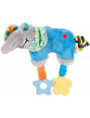 Слон плюшевый, голубой игрушка для собак