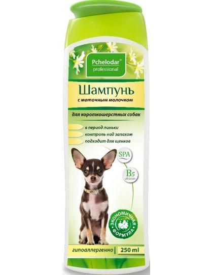 Шампунь с маточным молочком для короткошерстных собак
