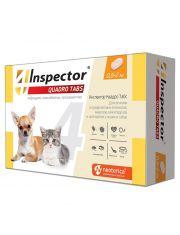 Inspector Quadro Tabs таблетки  для кошек и собак от 0,5 до 2 кг от внешних и внутренних паразитов