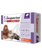 Inspector Quadro Tabs таблетки  для кошек и собак от 8 до 16 кг от внешних и внутренних паразитов