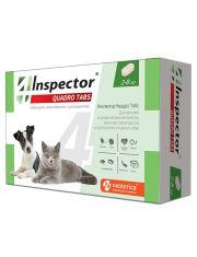 Inspector Quadro Tabs таблетки  для кошек и собак от 2 до 8 кг от внешних и внутренних паразитов