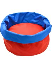 Лежанка Морская круглая с бортом водоотталкивающая ткань красный/синий