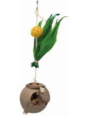 Гнездо из кокоса на сизалевой веревке