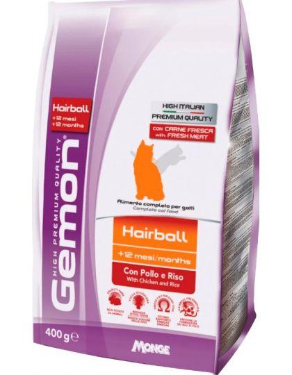 Hairball корм для выведение шерсти с курицей и рисом