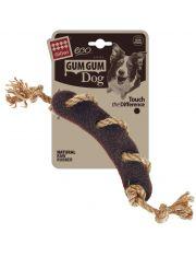 Сосиска c веревкой из экорезины серия GUM GUM DOG ECO