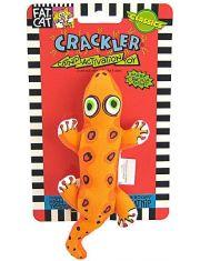 Игрушка для кошки Хрустящая зверушка, мягкая с кошачьей мятой Crackler Cat Toy