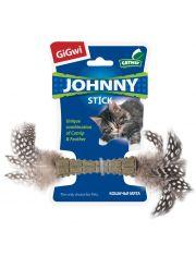 JOHNNY STICK прессованная кошачья мята с пером