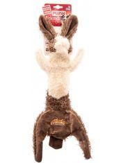 Заяц шкурка с 2-мя пищалками игрушка для собак
