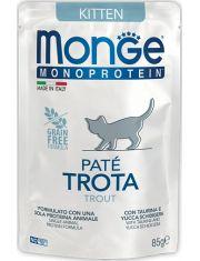 Monoprotein Trota паучи для котят форель