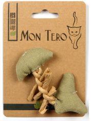 """""""Рыбья кость"""" игрушка для кошек с кошачьей мятой зеленая"""