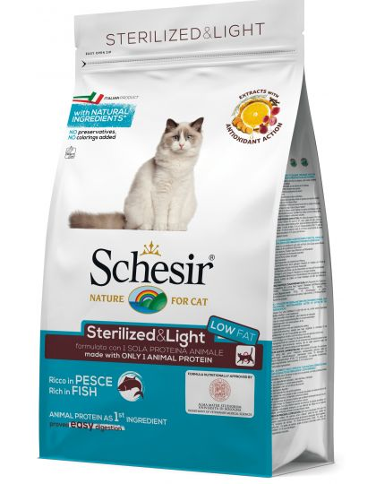 Sterilised&Light для кошек стерилизованных с рыбой