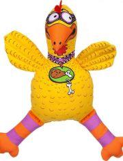 Floppability забавный цыпленок, большая, мягкая игрушка для собак