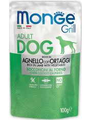 Grill AGNELLO CON ORTAGGI паучи с ягненком и овощами для взрослых собак всех пород