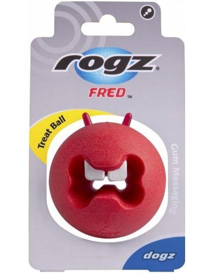 Fred Ball M игрушка с отверстиями для лакомств и массажными насечками средняя
