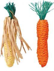 Морковь и кукуруза игрушка для грызунов