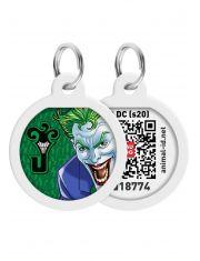 """Адресник WAUDOG Smart ID c QR паспортом, премиум, рисунок """"Джокер зеленый"""""""