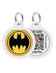 """Адресник WAUDOG Smart ID c QR паспортом, премиум, рисунок """"Бэтмен лого"""""""