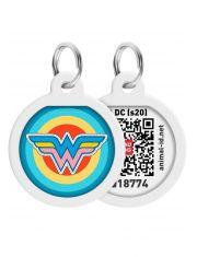 """Адресник WAUDOG Smart ID c QR паспортом, премиум, рисунок """"Вандервумен 1"""""""