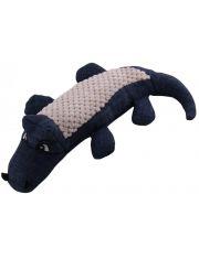 Игрушка для собак мягкая Крокодил, цвет синий