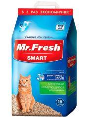 """Древесный комкующийся наполнитель Mr.Fresh """"SMART"""", для короткошерстных кошек"""