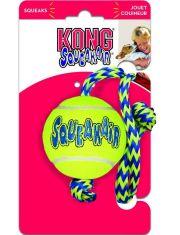 """SqueakAir® Balls with Rope """"теннисный мяч"""" с канатом игрушка для собак"""
