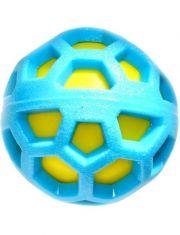 Игрушка для собак резиновый мяч двойной с пищалкой
