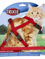 Шлейка с поводком для крупных кошек