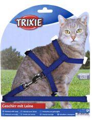Шлейка с поводком для кошки, одноцветная