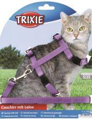 Шлейка с поводком для кошки, нейлон