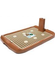 Туалет для собак со столбиком, коричневый