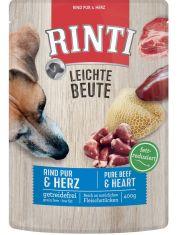 Leichte Beute Говядина и птичьи сердечки паучи для собак