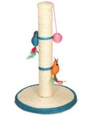 """Когтеточка из сизаля """"Столбик"""" с двумя мышками и шариком"""