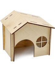 Домик для грызунов двускатная крыша, окошко