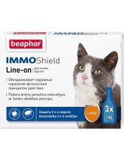 Капли IMMO Shield Line-on от паразитов для кошек
