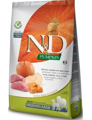 N&D PUMKIN Boar and Apple Adult Medium&Maxi беззерновой корм для собак средних и крупных пород с кабаном, тыквой и яблоком