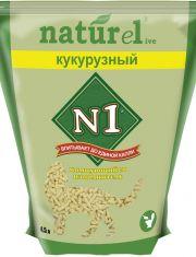 №1 Naturel наполнитель Кукурузный комкующийся натуральный