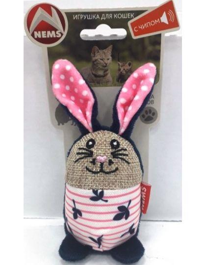Игрушка для кошек Кролик с чипом