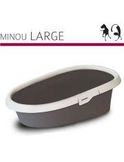 Туалет Minou Large с рамкой для кошек
