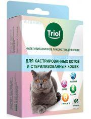 """Мультивитаминное лакомство для кошек """"Для кастрированных котов и стерилизованных кошек"""""""