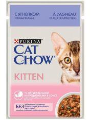 Kitten паучи для котят с ягненком и кабачками в соусе