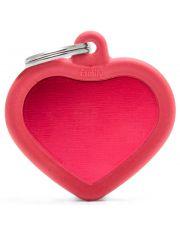 Адресник Сердце красное с контуром