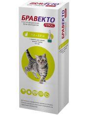 Бравекто Плюс капли для кошек от 1,2 до 2,8 кг против внутренних и внешних паразитов (112,5 мг)