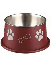 Миска для длинноухих пород собак, стальная, с пластиковым покрытием