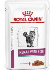 Renal c рыбой (диета) кусочки в соусе для кошек при хронической почечной недостаточности