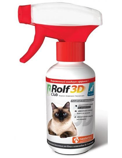 Rolf Club 3D спрей от клещей и блох для кошек