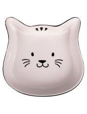 Миска керамическая для кошек Мордочка кошки черный с белым